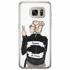 Samsung Galaxy S7 siliconen hoesje naam - Badass babe blondine