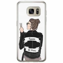 Samsung Galaxy S7 siliconen hoesje naam - Badass babe brunette