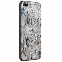 Casimoda iPhone 8 Plus/7 Plus glazen case naam - Snake print