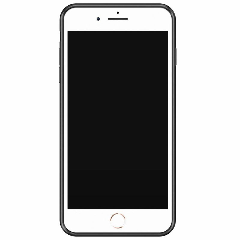 Casimoda iPhone 8 Plus/7 Plus glazen case naam - Marmer goud