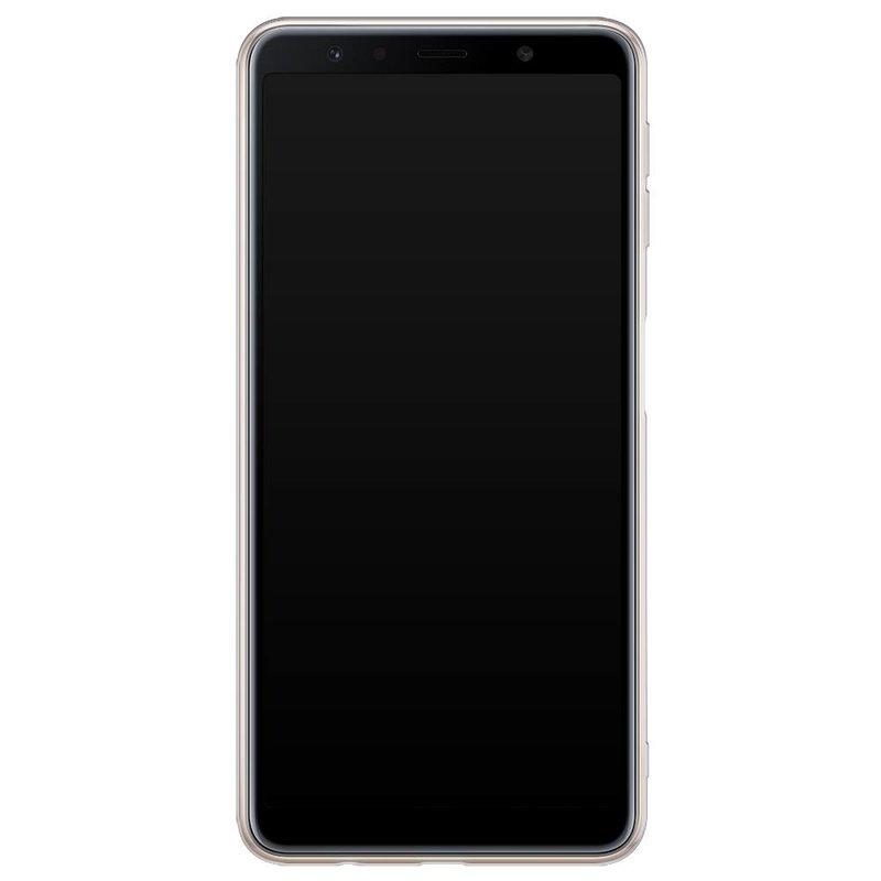 Samsung Galaxy A7 2018 hoesje naam - Marmer paars