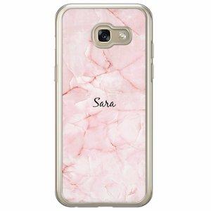 Samsung Galaxy A5 2017 hoesje naam - Marmer roze