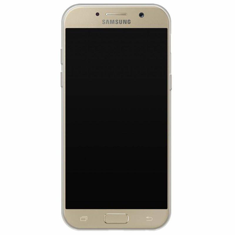 Casimoda Samsung Galaxy A5 2017 hoesje naam - Marmer goud