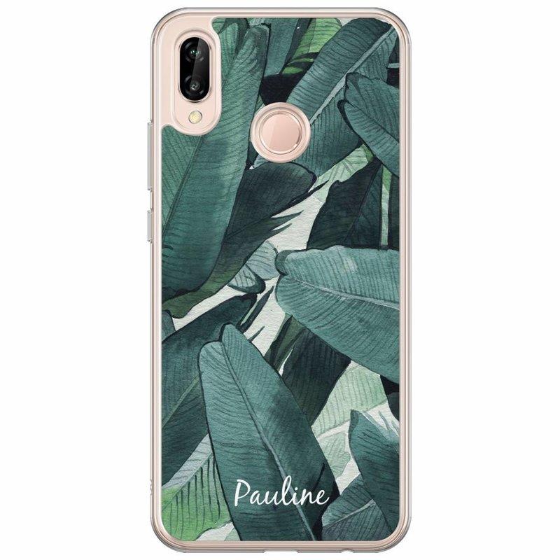Casimoda Huawei P20 Lite hoesje naam - Palmbladeren