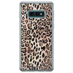 Samsung Galaxy S10e siliconen hoesje - Golden wildcat