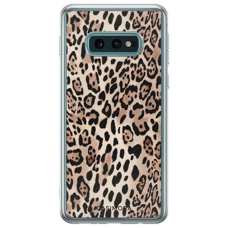 Casimoda Samsung Galaxy S10e siliconen hoesje - Golden wildcat