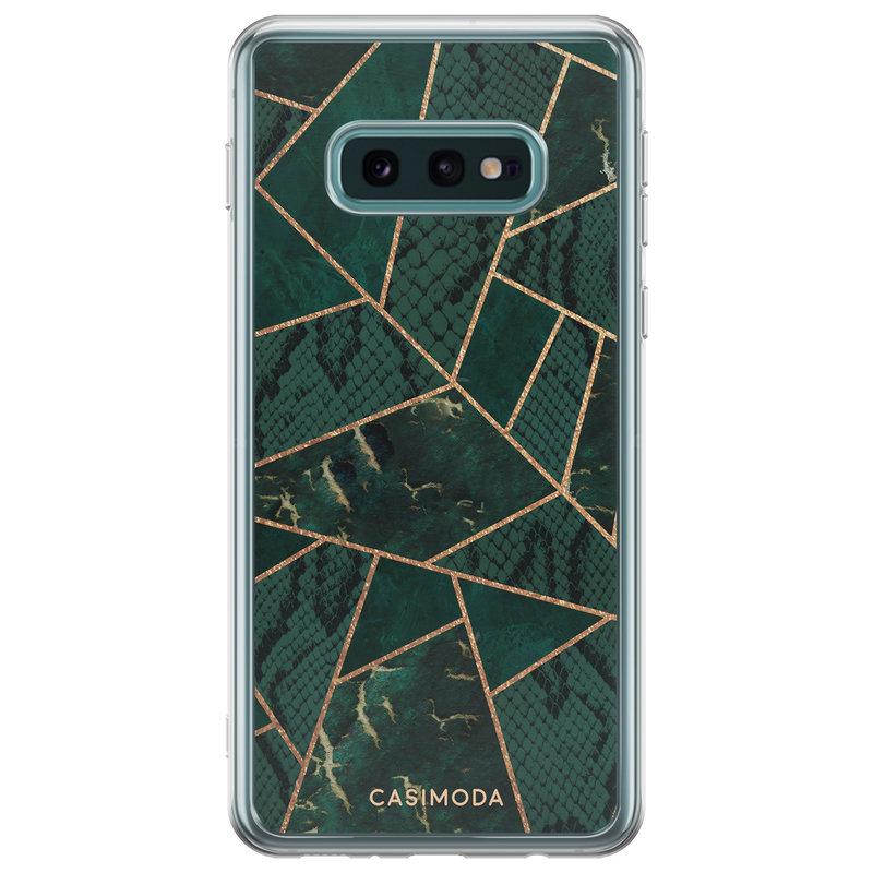 Casimoda Samsung Galaxy S10e siliconen hoesje - Abstract groen