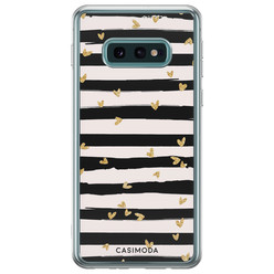 Casimoda Samsung Galaxy S10e siliconen hoesje - Hart streepjes