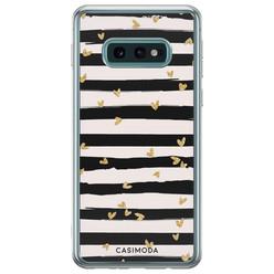 Samsung Galaxy S10e siliconen hoesje - Hart streepjes