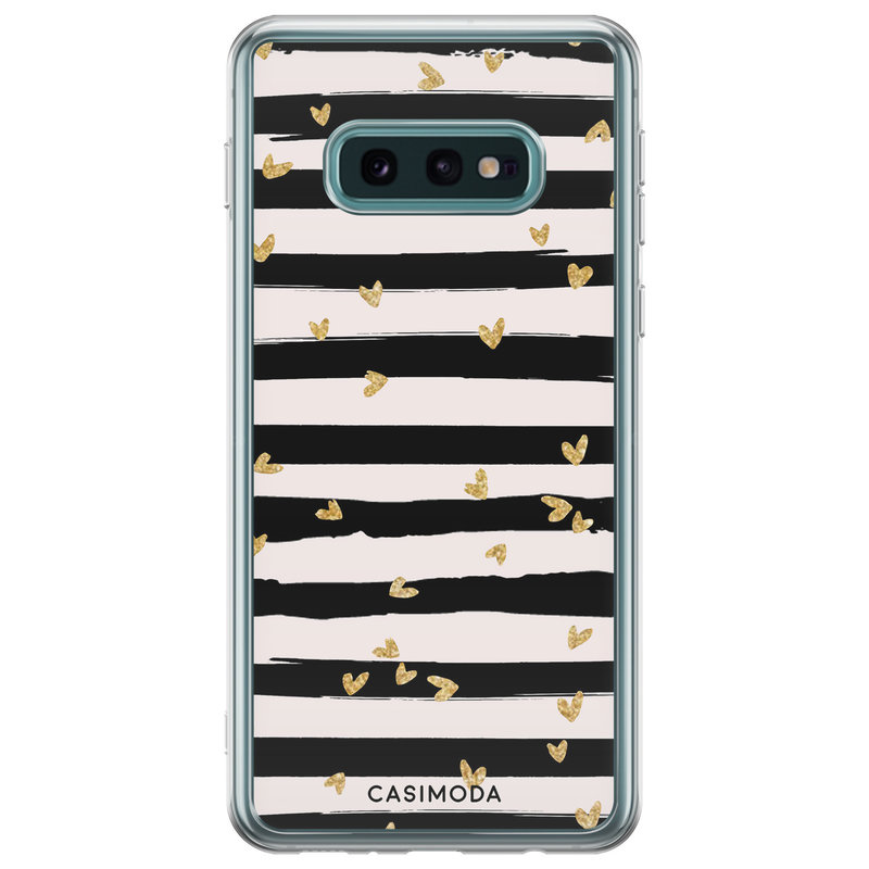 Casimoda Samsung Galaxy S10e siliconen telefoonhoesje - Hart streepjes