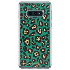 Samsung Galaxy S10e siliconen hoesje - Luipaard groen