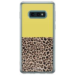 Casimoda Samsung Galaxy S10e siliconen hoesje - Luipaard geel