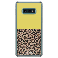 Samsung Galaxy S10e siliconen hoesje - Luipaard geel