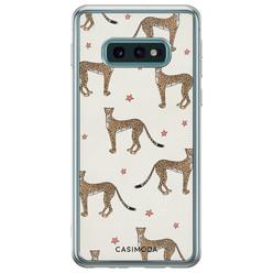 Samsung Galaxy S10e siliconen hoesje - Wild cheetah