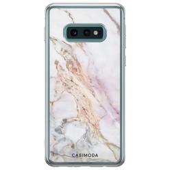 Casimoda Samsung Galaxy S10e siliconen hoesje - Parelmoer marmer