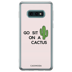 Casimoda Samsung Galaxy S10e siliconen hoesje - Go sit on a cactus