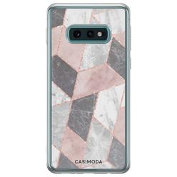 Casimoda Samsung Galaxy S10e siliconen hoesje - Stone grid