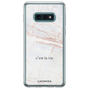 Samsung Galaxy S10e siliconen telefoonhoesje - C'est la vie