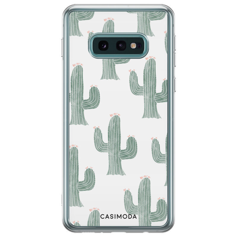 Casimoda Samsung Galaxy S10e siliconen telefoonhoesje - Cactus print