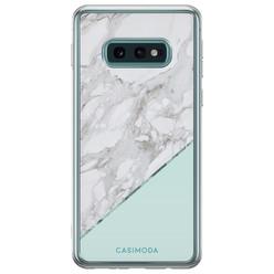 Casimoda Samsung Galaxy S10e siliconen hoesje - Marmer mint