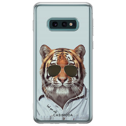 Casimoda Samsung Galaxy S10e siliconen hoesje - Tijger wild