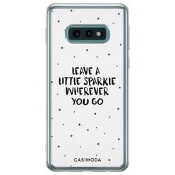 Casimoda Samsung Galaxy S10e siliconen hoesje - Leave a little sparkle