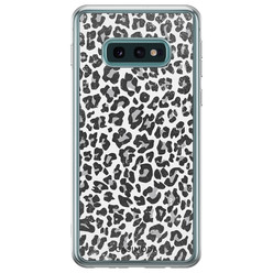 Casimoda Samsung Galaxy S10e siliconen hoesje - Luipaard grijs
