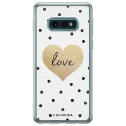 Casimoda Samsung Galaxy S10e siliconen hoesje - Love dots