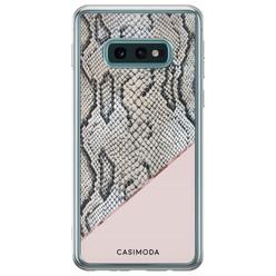 Casimoda Samsung Galaxy S10e siliconen hoesje - Snake print