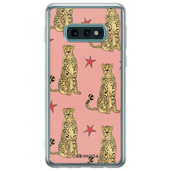 Casimoda Samsung Galaxy S10e siliconen hoesje - The pink leopard