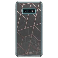 Samsung Galaxy S10e siliconen hoesje - Marble grid