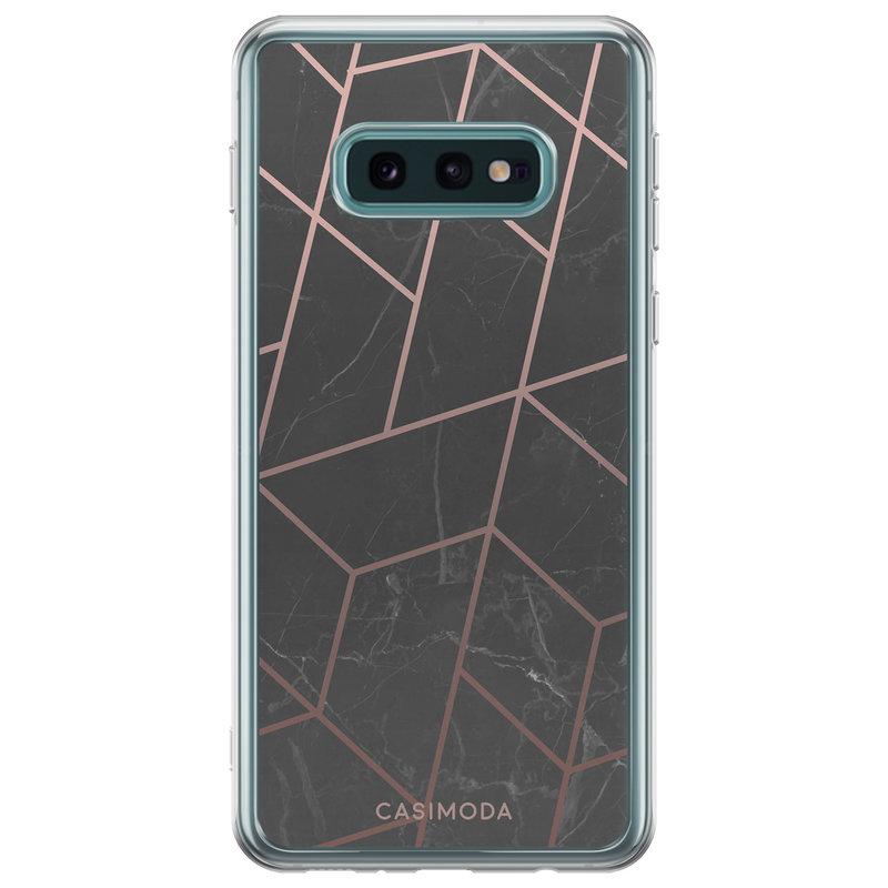 Casimoda Samsung Galaxy S10e siliconen telefoonhoesje - Marble grid