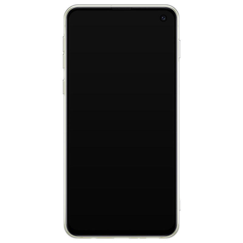 Casimoda Samsung Galaxy S10e siliconen hoesje - Marmer blauw goud