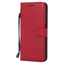 Samsung Galaxy A7 2018 - Rode wallet case