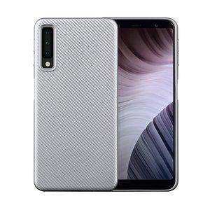 Samsung Galaxy A7 2018 - Carbon zilver TPU hoesje