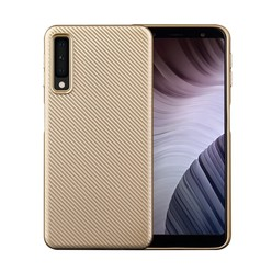 Samsung Galaxy A7 2018 - Carbon goud TPU hoesje