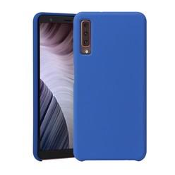 Samsung Galaxy A7 2018 - Blauw effen TPU hoesje
