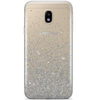 Samsung Galaxy J3 2017 siliconen hoesje - Falling glitters