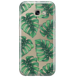 Samsung Galaxy A3 2017 transparant hoesje - Palm leaves