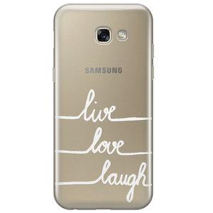 Samsung Galaxy A3 2017 transparant hoesje - Live, love, laugh