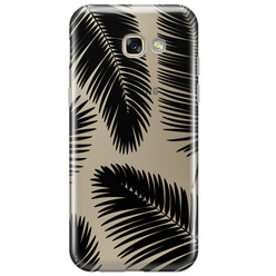 Samsung Galaxy A5 2017 transparant hoesje - Palm leaves silhouette