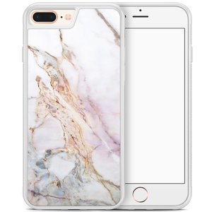 iPhone 8 Plus/iPhone 7 Plus hoesje - Parelmoer marmer