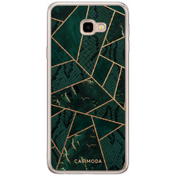 Casimoda Samsung Galaxy J4 Plus siliconen hoesje - Abstract groen