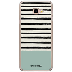 Casimoda Samsung Galaxy J4 Plus siliconen hoesje - Stripes on stripes