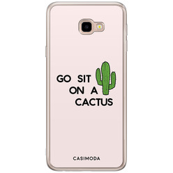 Casimoda Samsung Galaxy J4 Plus siliconen hoesje - Go sit on a cactus