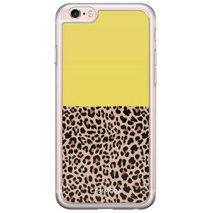 Casimoda iPhone 6/6s siliconen hoesje - Luipaard geel