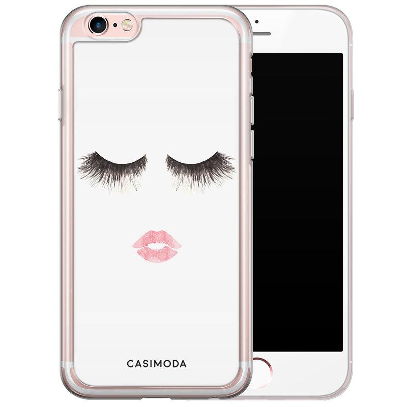 Casimoda iPhone 6/6s siliconen hoesje - Kiss wink