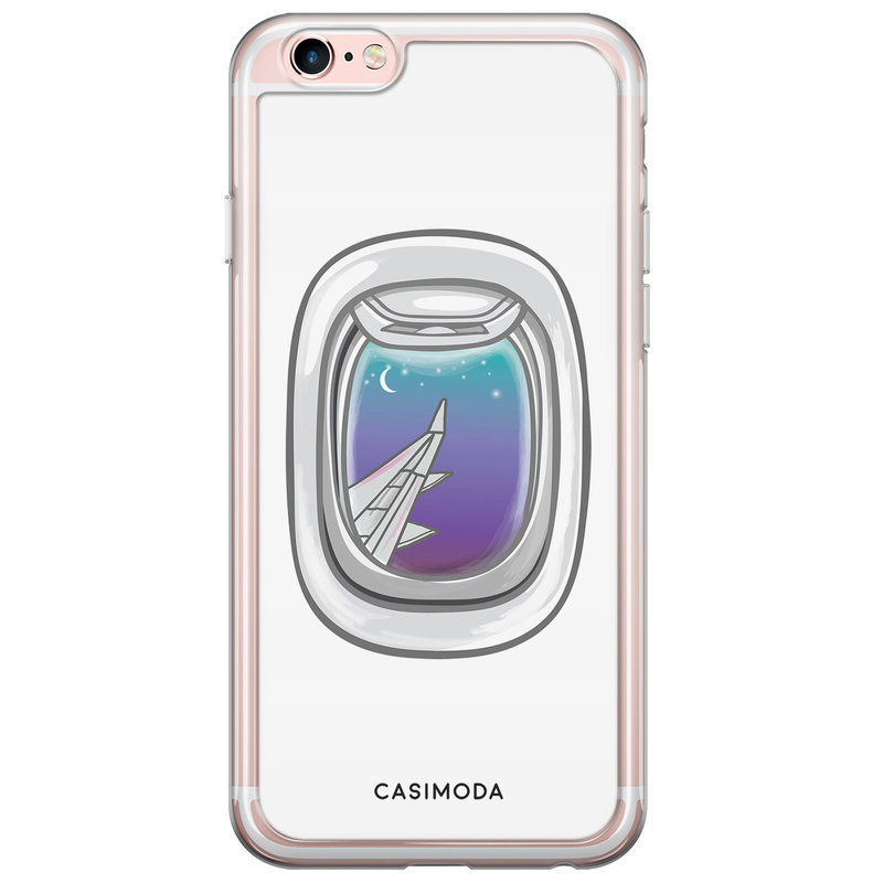 Casimoda iPhone 6/6S siliconen hoesje - Airplane window