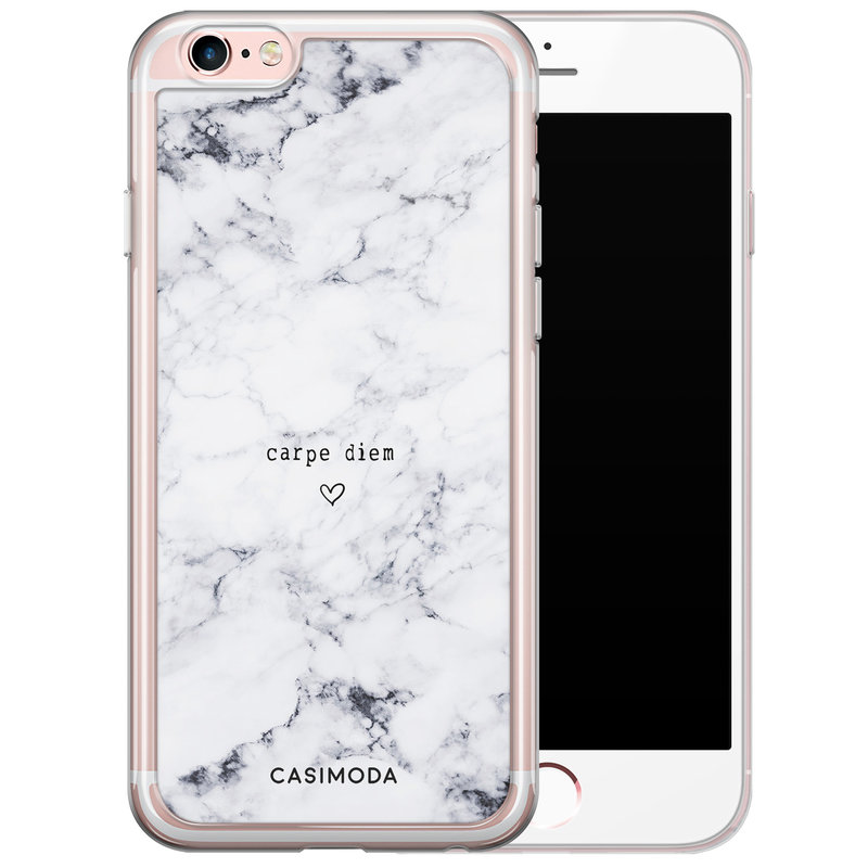Casimoda iPhone 6/6S siliconen hoesje - Carpe diem