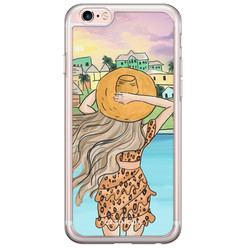iPhone 6/6S siliconen hoesje - Sunset girl
